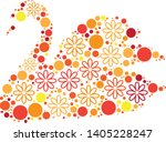 magical floral circle animals... | Shutterstock .eps vector #1405228247