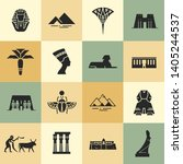 collection of flat icons on a... | Shutterstock .eps vector #1405244537