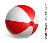 inflatable rubber beach ball....   Shutterstock .eps vector #1405248374