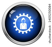 teamwork icon. glossy button... | Shutterstock .eps vector #1405250084