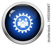 teamwork icon. glossy button... | Shutterstock .eps vector #1405250087