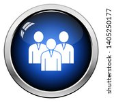 corporate team icon. glossy... | Shutterstock .eps vector #1405250177