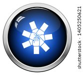 unity and teamwork icon. glossy ... | Shutterstock .eps vector #1405250621