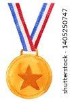 watercolor graduation medal...   Shutterstock . vector #1405250747