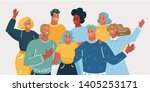 vector illustration of group of ... | Shutterstock .eps vector #1405253171