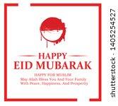 simple eid mubarak greeting... | Shutterstock .eps vector #1405254527