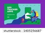 illustration of gps mobile...