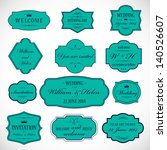 frames and ornaments set  ... | Shutterstock .eps vector #140526607