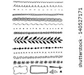hand drawn line border set | Shutterstock .eps vector #140527171