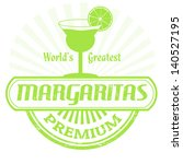 Margaritas grunge rubber stamp on white background, vector illustration