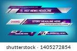 Graphic Set Of Broadcast News...