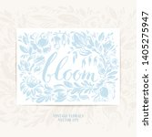 hand drawn floral frame with... | Shutterstock .eps vector #1405275947