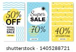 total discounts and summer... | Shutterstock .eps vector #1405288721