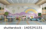 Colorful Kindergarten Class...