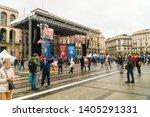 milan  italy   18 may 2019 ... | Shutterstock . vector #1405291331