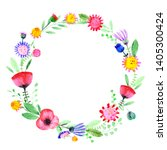 hand drawn watercolor fantasy... | Shutterstock . vector #1405300424