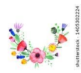 hand drawn watercolor fantasy... | Shutterstock . vector #1405302224