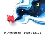 abstract of little paper plane... | Shutterstock .eps vector #1405313171