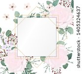 wedding invitation leaves and... | Shutterstock .eps vector #1405324637