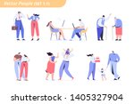 couples of different ages and... | Shutterstock .eps vector #1405327904