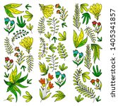 hand vector drawn floral ... | Shutterstock .eps vector #1405341857