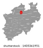 muenster red highlighted in map ... | Shutterstock . vector #1405361951
