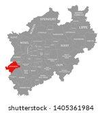heinsberg red highlighted in... | Shutterstock . vector #1405361984