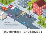 modern city town residential... | Shutterstock .eps vector #1405382171