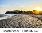 Sunset On Beach  Photo As A...