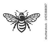 Bee Icon. Bug Logo On White...