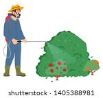 man wearing special protective... | Shutterstock .eps vector #1405388981