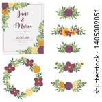 vector collection with wedding... | Shutterstock .eps vector #1405389851