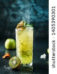 fresh kiwi cocktail with apple  ... | Shutterstock . vector #1405390301
