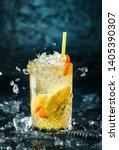 fresh lemonade with mint ... | Shutterstock . vector #1405390307