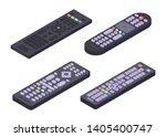 Remote Icons Set. Isometric Set ...