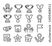 awards icons set isolated.... | Shutterstock .eps vector #1405408511