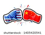 boxing gloves fighting america... | Shutterstock .eps vector #1405420541