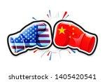 boxing gloves fighting america... | Shutterstock .eps vector #1405420541