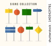 set of road signs isolated.... | Shutterstock .eps vector #1405429781