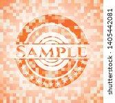 sample abstract orange mosaic... | Shutterstock .eps vector #1405442081