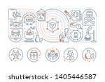 linear banner of the chemistry. ... | Shutterstock . vector #1405446587