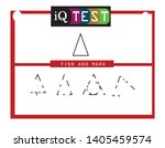 iq test   practical questions.... | Shutterstock .eps vector #1405459574