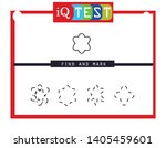 iq test   practical questions.... | Shutterstock .eps vector #1405459601