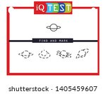 iq test   practical questions.... | Shutterstock .eps vector #1405459607