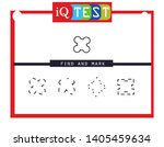 iq test   practical questions.... | Shutterstock .eps vector #1405459634