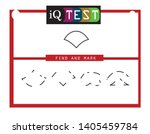 iq test   practical questions.... | Shutterstock .eps vector #1405459784