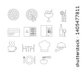 vector set of restaurant icons. ... | Shutterstock .eps vector #1405477811