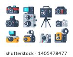 different types of cameras set... | Shutterstock .eps vector #1405478477