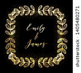 golden glittering frame with... | Shutterstock .eps vector #1405480271