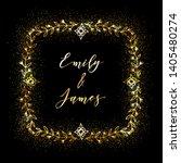 golden glittering frame with... | Shutterstock .eps vector #1405480274